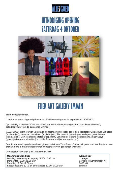 Uitnodiging expositie Flier